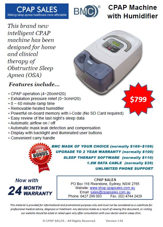 CPAP Machine with Humidifier and $450 Bonus Value